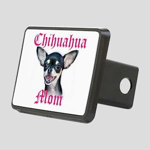 chihuahua mom Rectangular Hitch Cover