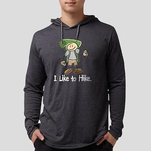 Happy Hiker Boy Mens Hooded Shirt