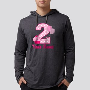 2nd Birthday Cupcake Mens Hooded Shirt