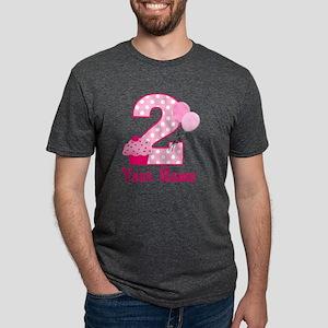 2nd Birthday Cupcake Mens Tri-blend T-Shirt