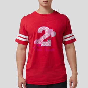 2nd Birthday Cupcake Mens Football Shirt