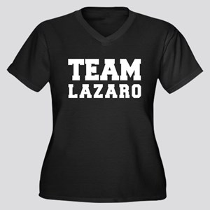TEAM LAZARO Women's Plus Size V-Neck Dark T-Shirt