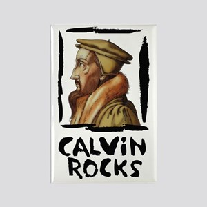 Calvin Rocks Rectangle Magnet