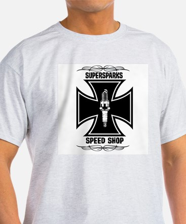 Supersparks Speed Shop Ash Grey T-Shirt