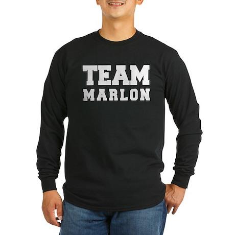 TEAM MARLON Long Sleeve Dark T-Shirt