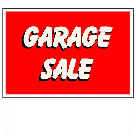 Garage Sale Red Custom Yard Sign