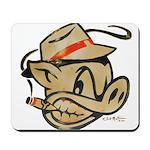 Smokin Pig by Elliott Mattice Mousepad