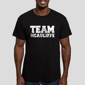 TEAM MCAULIFFE Men's Fitted T-Shirt (dark)