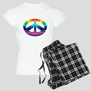 Peace Rainbow Logo 3D Women's Light Pajamas