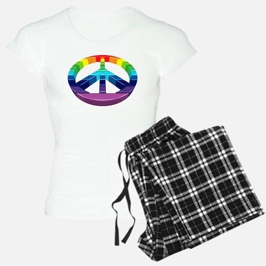 Peace Rainbow Logo 3D Pajamas