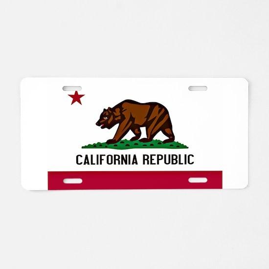 California Flag Aluminum License Plate