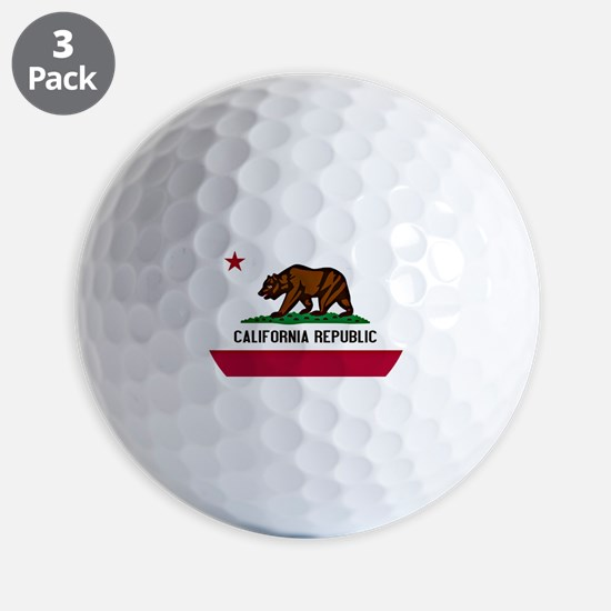 California Flag Golf Ball