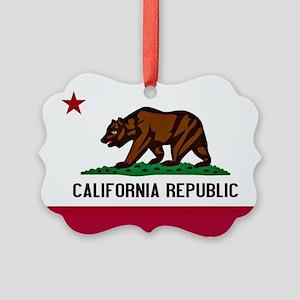 California Flag Picture Ornament