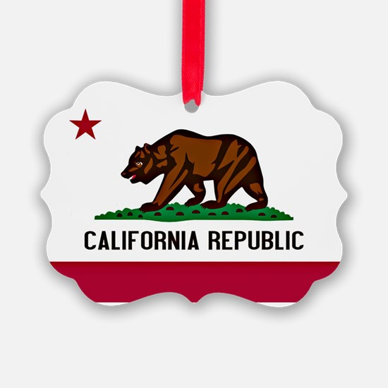 California Flag Ornament