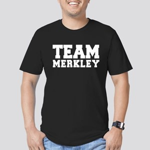 TEAM MERKLEY Men's Fitted T-Shirt (dark)