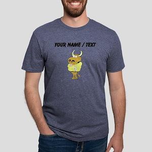 Custom Bull In Strait Jacke Mens Tri-blend T-Shirt