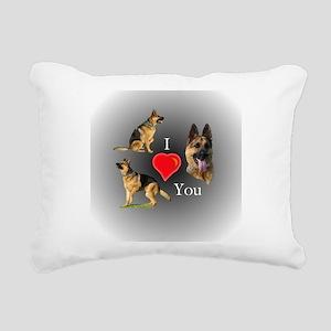 I Love You German Shepherd Rectangular Canvas Pill
