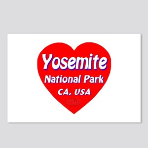 Yosemite National Park Heart Postcards (Package of