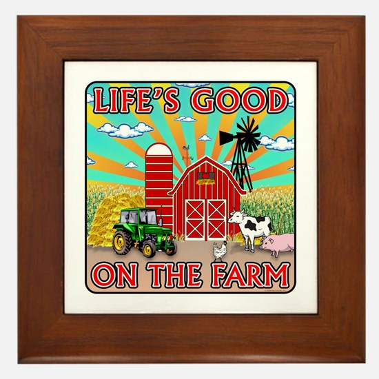 The Farm Framed Tile