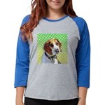 beagle_tile.png Womens Baseball Tee