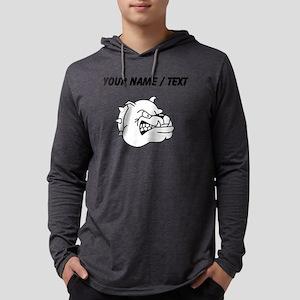 Custom Bulldog Mens Hooded Shirt