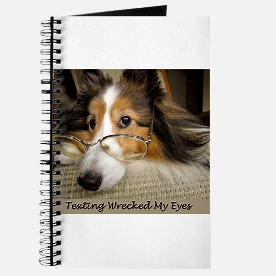 Texting Wrecked My Eyes Journal