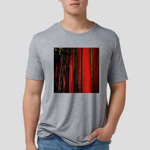 Red Bamboo Wall 5.25x5.25 T Mens Tri-blend T-Shirt