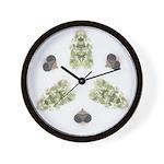 Feathered Greenery Wall Clock