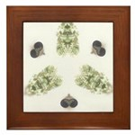 Feathered Greenery Framed Ceramic Tile