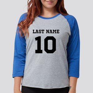 Name and Number Womens Baseball Tee