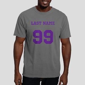Customizable Purple Name Mens Comfort Colors Shirt