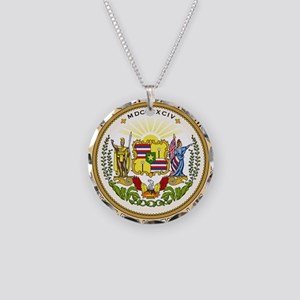 Seal of Hawaii 1894-1898 Necklace Circle Charm