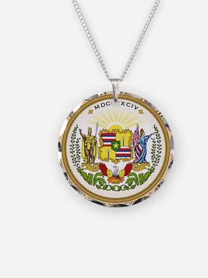Seal of Hawaii 1894-1898 Necklace Circle Charm