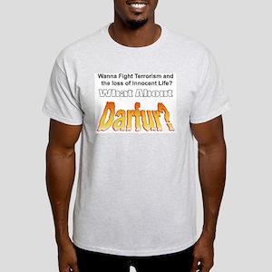What about Darfur? Ash Grey T-Shirt