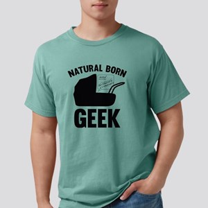 StrollerNaturalBornGeek1 Mens Comfort Colors Shirt
