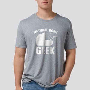 StrollerNaturalBornGeek1B Mens Tri-blend T-Shirt