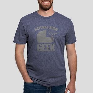 StrollerNaturalBornGeek1C Mens Tri-blend T-Shirt