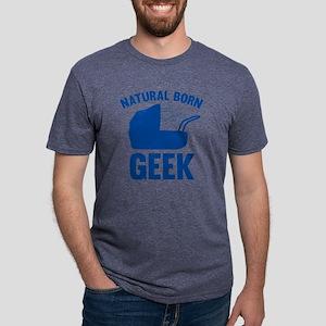 StrollerNaturalBornGeek1D Mens Tri-blend T-Shirt