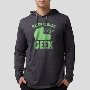 StrollerNaturalBornGeek1E Mens Hooded Shirt