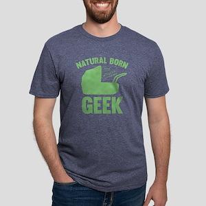 StrollerNaturalBornGeek1E Mens Tri-blend T-Shirt