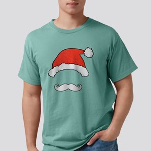 Santa Face Mens Comfort Colors Shirt