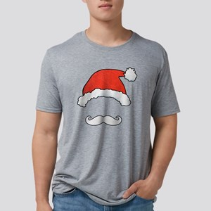 Santa Face Mens Tri-blend T-Shirt