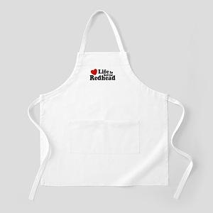 Life is Better Redhead  BBQ Apron