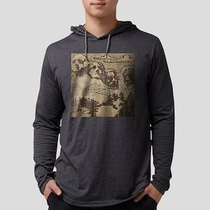 Vintage Mount Rushmore Mens Hooded Shirt