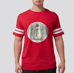 Snowman Mens Football Shirt
