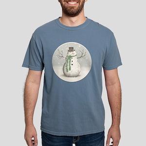 Snowman Mens Comfort Colors Shirt