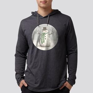 Snowman Mens Hooded Shirt