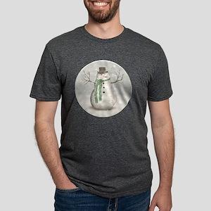 Snowman Mens Tri-blend T-Shirt