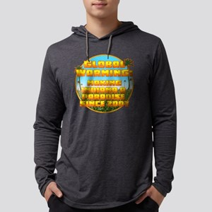 Global Warming Indiana Mens Hooded Shirt