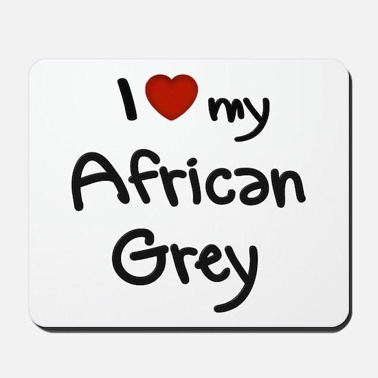 African Grey Love Mousepad